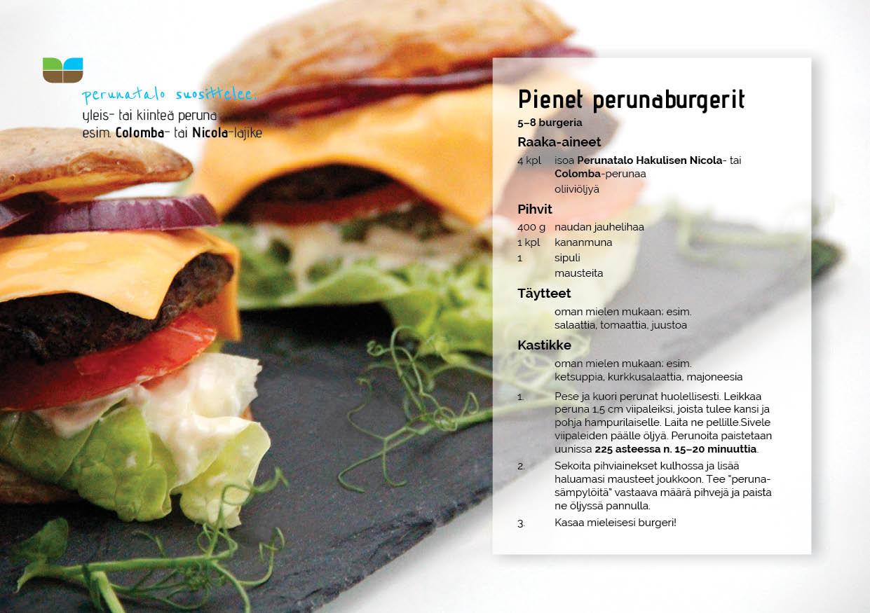 Perunatalo Hakulinen, perunaburgerit