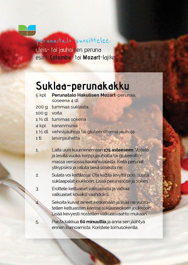 Perunatalo Hakulinen, suklaa-perunakakku